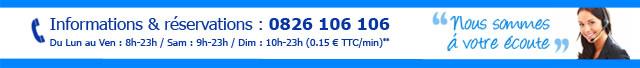 Informations & réservations : 0826 106 106