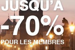 Jusqu'à -70% pour les membres