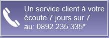 Un service client à votre écoute7jours sur7